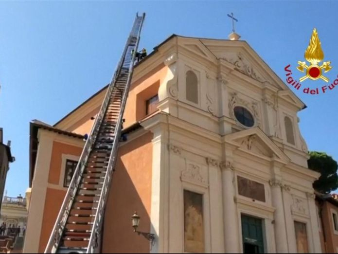 The church is built on an ancient prison where St Peter is said to have been held  Roof of historic Rome church San Giuseppe dei Falegnam collapses skynews church rome collapse 4406106