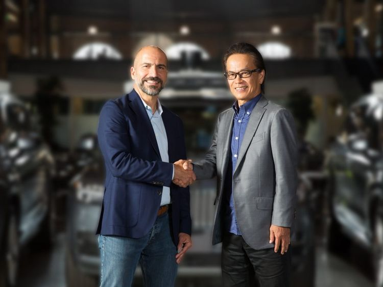 Uber boss Dara Khosrowshahi agrees partnership with Toyota's Shigeki Tomoyama