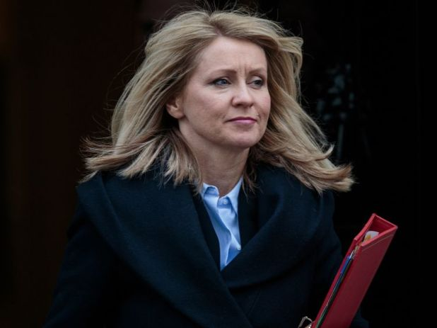 LONDON, ENGLAND - FEBRUARY 27: Secretary of State for Work and Pensions, Esther McVey leaves Number 10 Downing Street following the weekly cabinet meeting on February 27, 2018 in London, England. (Photo by Jack Taylor/Getty Images)