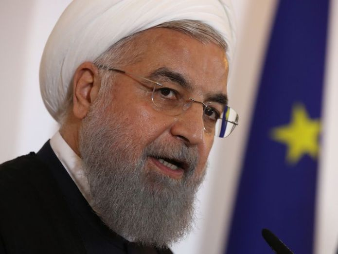 President Rouhani has dismissed calls for talks with the US   European companies 'protected' from US sanctions following Iran nuclear row skynews hassan rouhani donald trump 4382408