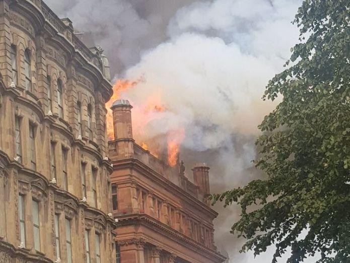 Primark confirmed that the store was evacuated. Pic: Emmet McEvoy  Primark evacuated after 'devastating' fire at Belfast store skynews primark fire belfast 4403612
