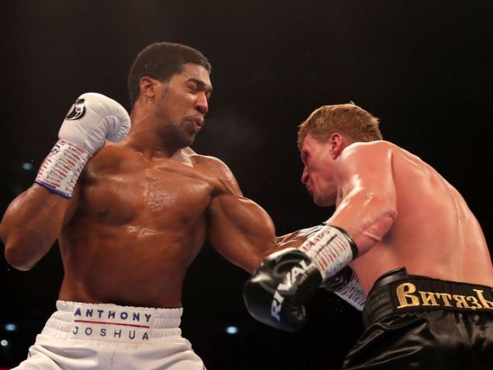 Anthony Joshua throws a left hook  Anthony Joshua retains heavyweight titles with win over Alexander Povetkin anthony joshua alexander povetkin 4430478