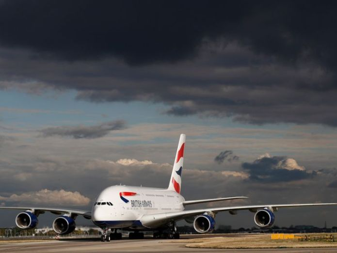 British Airways Airbus A380  Deal changes outlook for BBC weather forecaster MeteoGroup skynews british airways airbus 380 4418918
