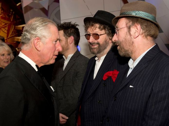 Chas and Dave (R) met Prince Charles at the Royal Variety Performance at the London Palladium Theatre in 2013  Chas & Dave singer Chas Hodges dies aged 74 skynews chas dave charles 4429641