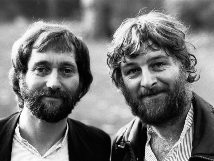 Musician Chas Hodges (right), pictured with bandmate Dave Peacock, has died   Chas & Dave singer Chas Hodges dies aged 74 skynews chas dave 4429622