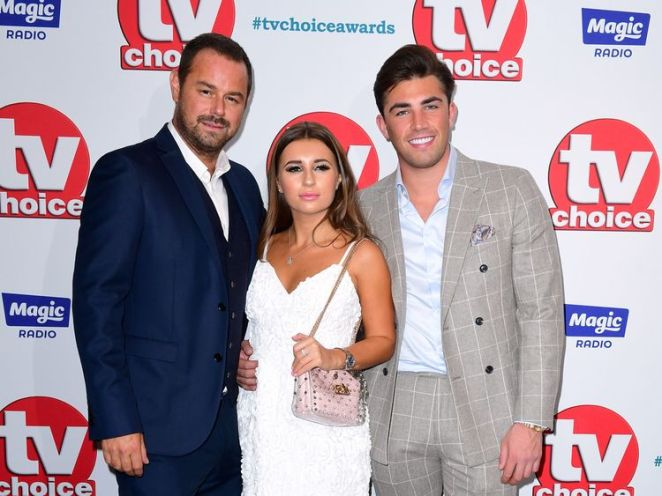 Danny Dyer, Dani Dyer and Jack Fincham (right) attending the TV Choice Awards at the Dorchester Hotel, Park Lane, London. PRESS ASSOCIATION Photo. Picture date: Monday September 10, 2018. See PA story SHOWBIZ TVChoice. Photo credit should read: Ian West/PA Wire