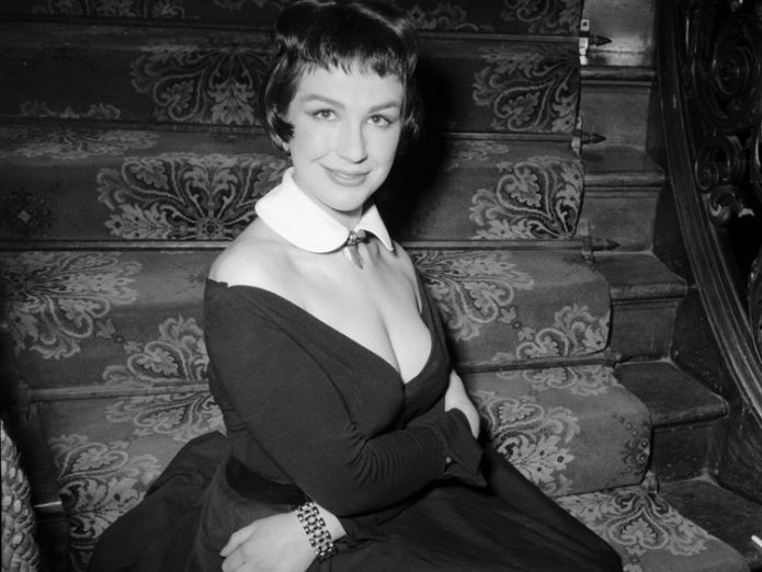 Fielding, pictured in 1955, also had several TV and theatre roles  'Divine' Carry On actress dies aged 90 skynews fenella fielding actress 4418301