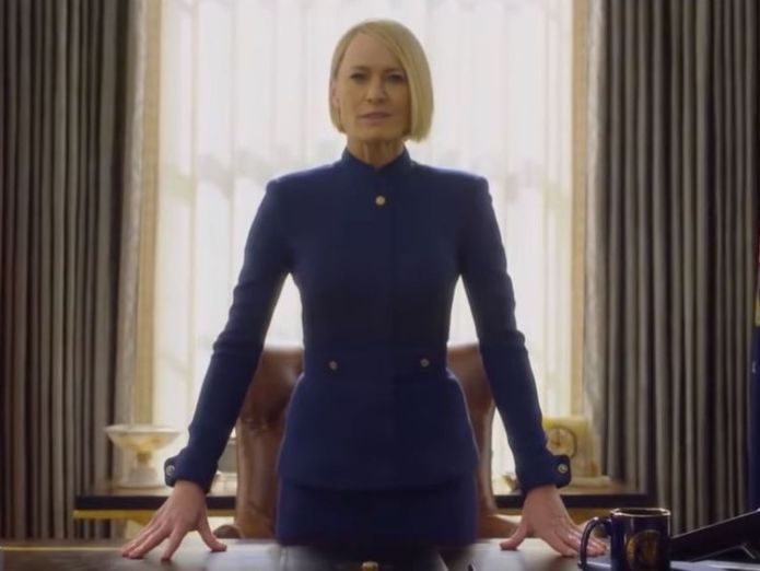 Robin Wright plays Claire Underwood  Kevin Spacey's House Of Cards character Frank Underwood killed off skynews house of cards robin wright 4412838