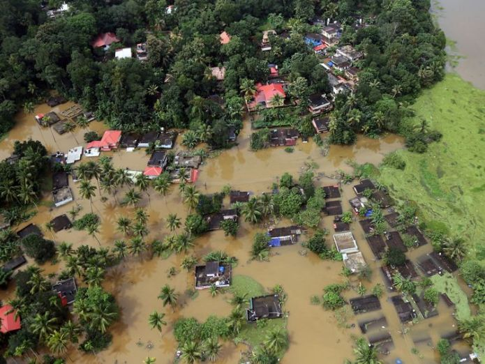 Villages have been cut off and partially submerged by the floods  'Rat fever' and malaria kill India flood victims as waters subside skynews kerala rat fever floods 4411120