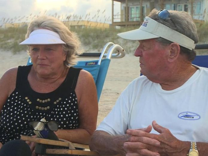 Martha and Jeddy fear losing their holiday cottages to Hurricane Florence  Life and death decisions as 'monster' storm looms skynews martha jeddy 4418329