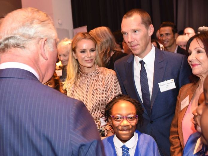 Prince Charles with Amanda Holden, Benedict Cumberbatch and Arlene Phillips  Stars join Prince Charles to demand all children get access to the arts skynews prince charles 4412629