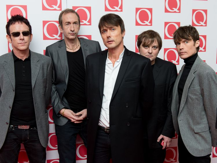 Suede attends The Q Awards at The Grosvenor House Hotel in 2013