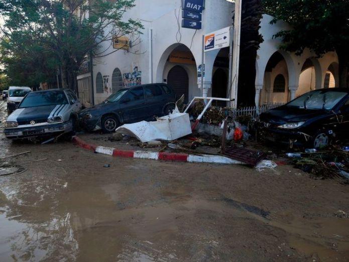 Flash flooding in Tunisia has killed at least four people  Mediterranean hurricane dubbed 'Medicane' to hit Greek islands skynews tunisia flooding rain 4435159