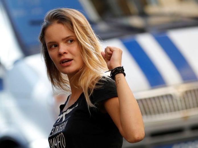 Veronika Nikulshina said Verzilov's condition had deteriorated  Poisoning of Pussy Riot protester 'highly plausible', doctors say skynews veronika nikulshina 4419081