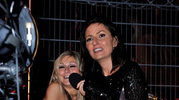 Former Big Brother competitor Nikki Grahame with Davina McCall, who hosted the show on Channel 4 from 2000 to 2010