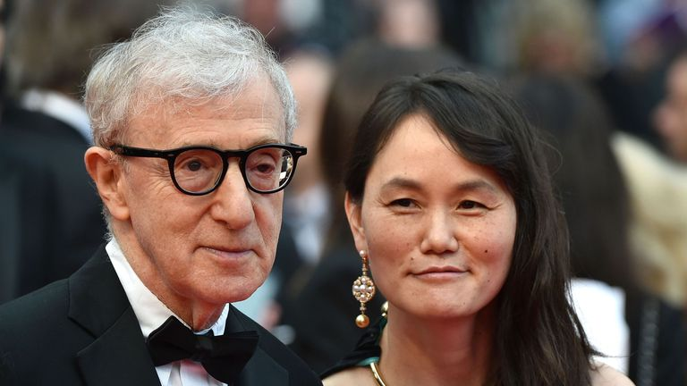 Soon-Yi Previn and Woody Allen at the Cannes Film Festival in 2016