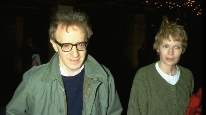 Woody Allen and Mia Farrow before they split up
