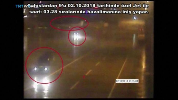 Black vans at Istanbul airport linked to Jamal Khashoggi's disappearance  15-man Saudi 'hit squad' pictured on day journalist disappeared skynews jamal khashoggi saudi consulate 4448819
