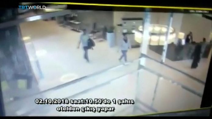 Man linked to Jamal Khashoggi disappearance leaves hotel  15-man Saudi 'hit squad' pictured on day journalist disappeared skynews jamal khashoggi saudi consulate 4449002