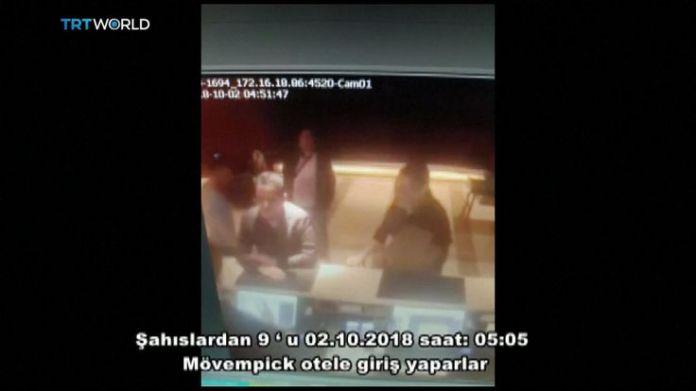Saudis linked to Jamal Khashoggi disappearance at Istanbul hotel  15-man Saudi 'hit squad' pictured on day journalist disappeared skynews saudi consulate jamal khashoggi 4448834