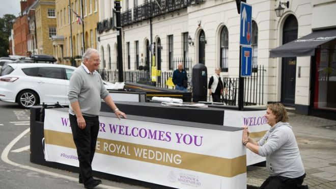 The town prepares to welcome the royals and the well-wishers