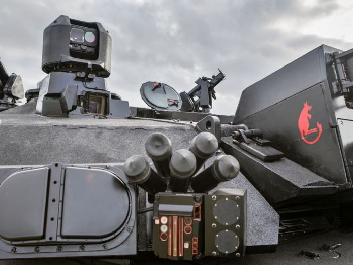 Enemy weapon systems will be identified by the system which will automatically point a gun a t the source. Pic: BAE Systems  Upgraded tank for UK army unveiled by BAE Systems skynews black night bae systems 4442997