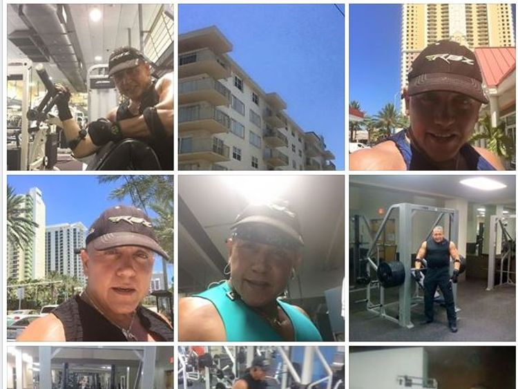 Sayoc uploaded photos from different times of him working out in the gym. Pic: Cesar Sayoc