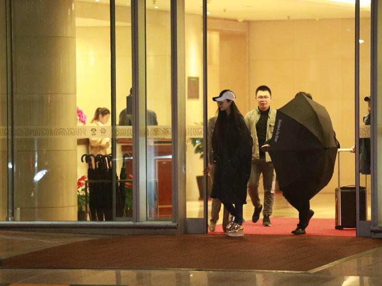 Actress Fan Bingbing at Beijing Capital International Airport