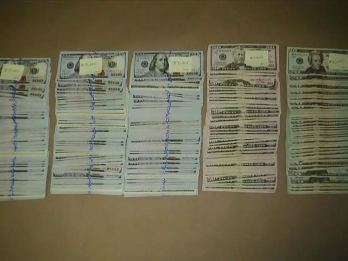 The suspects had a large quantity of cash