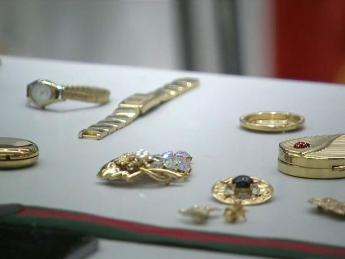 Items recovered by police included expensive jewellery and watches