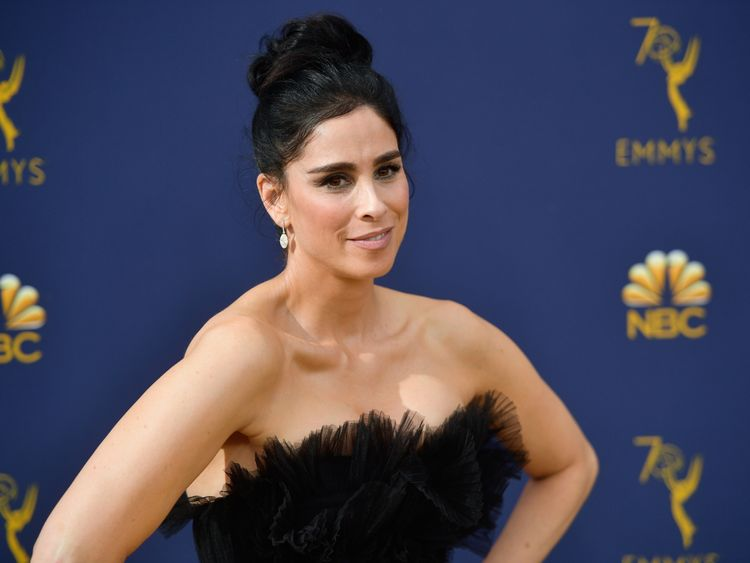 Sarah Silverman attends the 70th Emmy Awards at Microsoft Theater on September 17, 2018 in Los Angeles, California