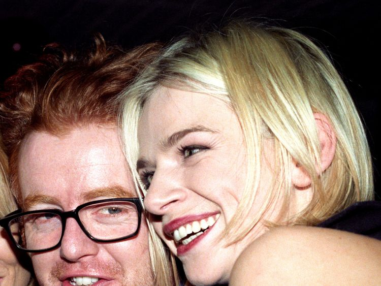 File photo dated 1/12/1996 of DJ Zoe Ball (right) and Chris Evans who she will be replacing on BBC Radio 2 breakfast