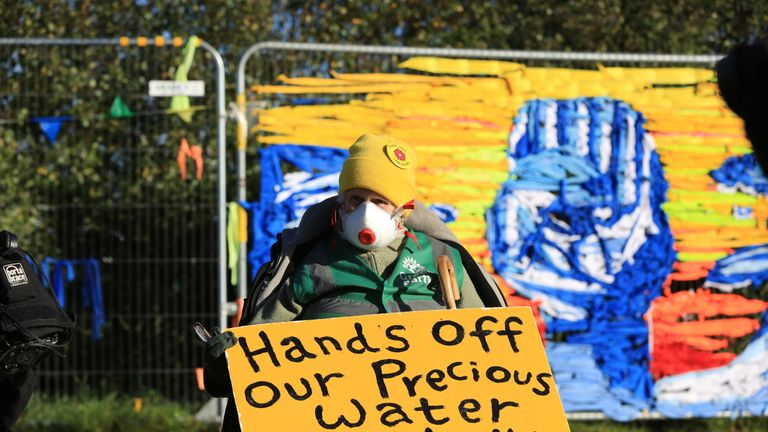 Protesters have been keen to stop the work in Lancashire