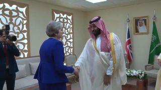 Theresa May meets with Saudi crown prince at G20