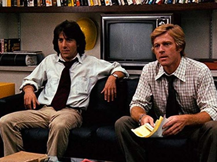 Dustin Hoffman and Robert Redford starred in All The President's Men, screenplay by William Goldman