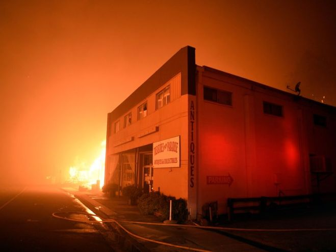 The fire raged through the town of Paradise on Thursday