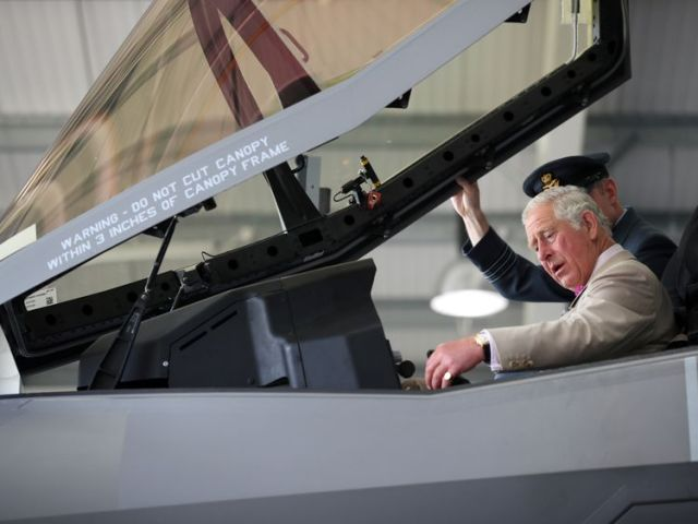 Prince Charles sat in one of the F-35 in the summer