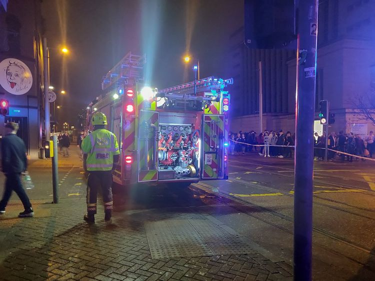 The area was cordoned off by emergency services. Pic: James Stevenson