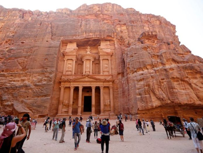 The ancient city of Petra is popular with tourists  Flash flooding hits historic Jordan city of Petra two weeks after school children die skynews petra jordan 4481796