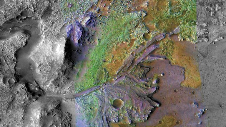 NASA has announced that the rover will land in Jezero crater. Image: NASA
