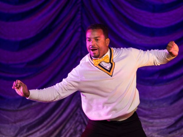 Alfonso Ribeiro performs during the Dancing With The Stars: Live! Tour at Turning Stone on December 28, 2014