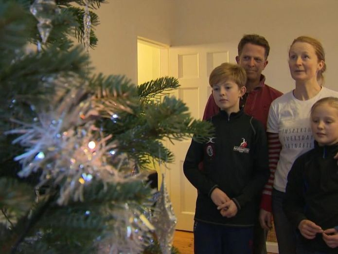 The Bronsdons from East Lothian have made an effort to have an ethical Christmas