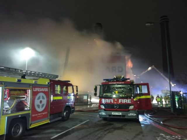 Fire crews on the scene. Pic: London Fire Brigade