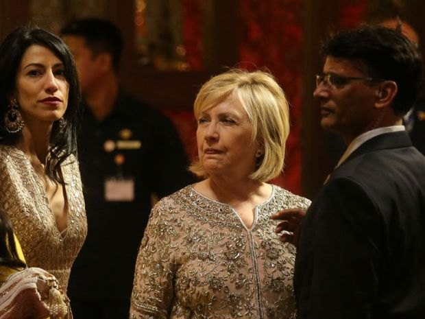 Video showed Mrs Clinton dancing with Indian actor Shah Rukh Khan