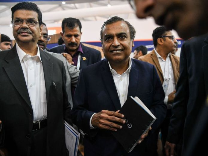 Mukesh Ambani is thought to be worth up to £37.5bn