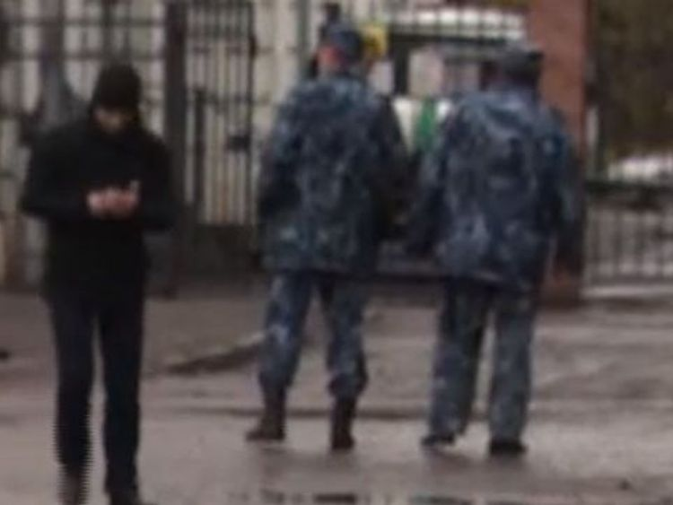 The guards wanted to stop filming