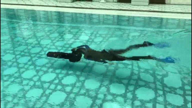 Princess Latifa practising her escape