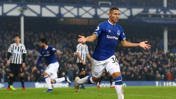 Watch highlights as Everton draw 1-1 with Newcastle at Goodison Park.