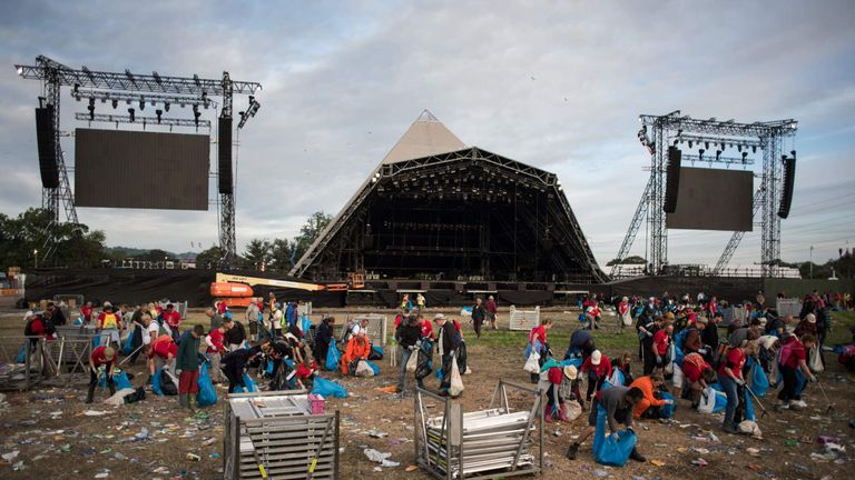The festival aims to prevent around a million plastic bottles being used at the farm