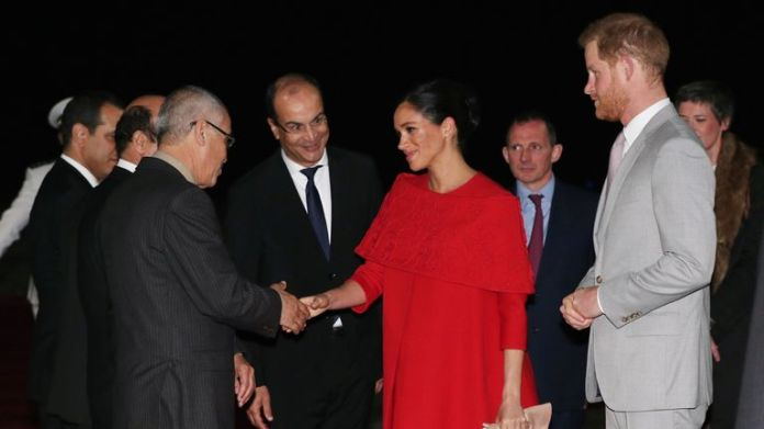 THE DUKE AND DUCHESS OF SUSSEX ARRIVE IN MOROCCO
